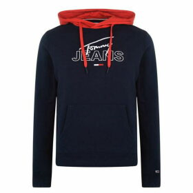 Tommy Jeans Colour Block Graphic Hoodie - Black Iris