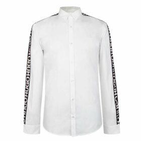 HUGO Extra Slim Tape Logo Shirt - White