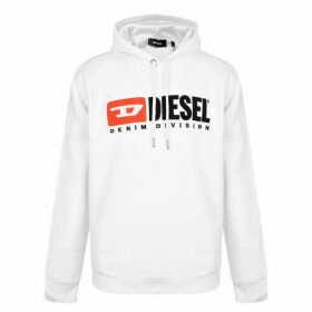 Diesel Jeans Basic Logo Hooded Sweatshirt - White 100
