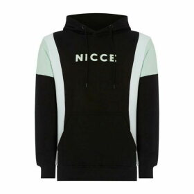 Nicce Alta Colour Block Hoodie - Black/Mint