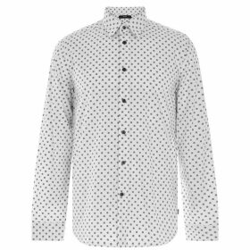 Diesel Diesel Long Sleeve Micro Print Shirt - 100 White
