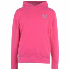 TRUE RELIGION Reflective Over The Top Hoodie - Raspberry