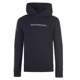 Scotch and Soda Logo Hoodie - Navy Melange