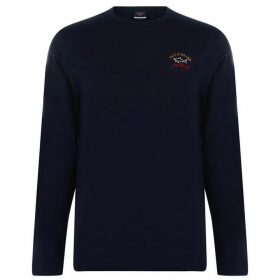 Paul And Shark Crew Sleeve T Shirt - Navy 013