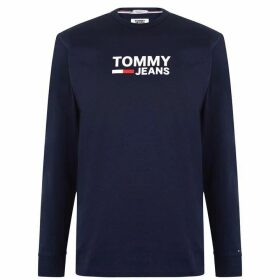 Tommy Jeans Corporate Long Sleeve T Shirt - Black Iris