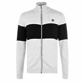 Jack and Jones Fix Zip Knit - White Melange