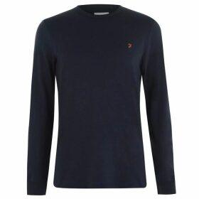Farah Vintage Long Sleeve Dennis T Shirt - True Navy 412