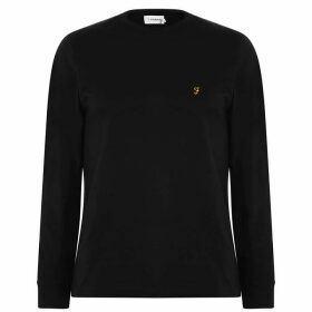 Farah Vintage Long Sleeve Dennis T Shirt - Dp Black 006