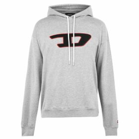 Diesel Patch Hooded Sweatshirt - Grey 912