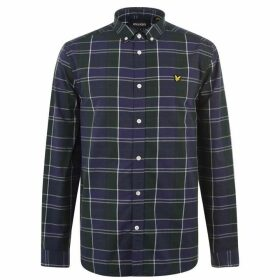 Lyle and Scott Fine Check Long Sleeve Shirt - Navy Z99