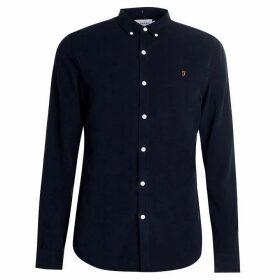 Farah Vintage Fontella Cord Shirt - True Navy 412