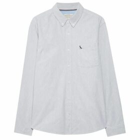 Jack Wills Wadsworth Plain Oxford Shirt - Lt Ash Mrl