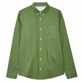 Jack Wills Wadsworth Plain Oxford Shirt - Moss