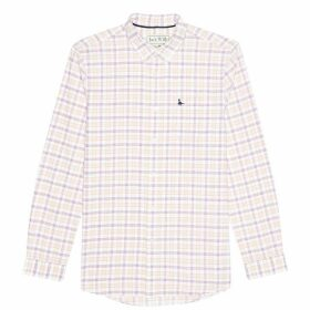 Jack Wills Wadsworth Oxford Check Shirt - Damson