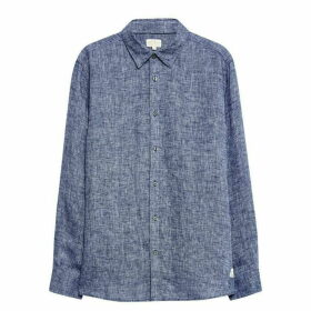 Jack Wills Jaywick Solid Linen Shirt - Blue