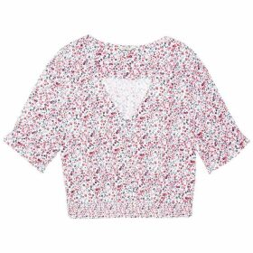 Jack Wills Kerry Shirred Waist Blouse - Pink