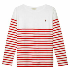 Jack Wills Bidefrod Classic Breton Top - Red