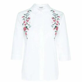 Jack Wills Woverley Embroidered Shirt - White