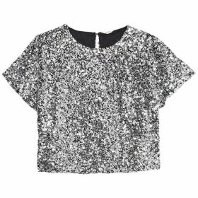 Jack Wills Kaylynne Sequin Tee - Silver