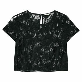 Jack Wills Cublington Lace Top - Black