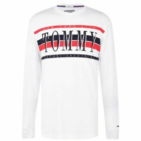 Tommy Jeans Long Sleeve T Shirt - Classic White