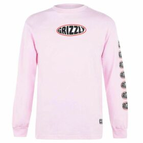 Grizzly Grizzly Long Sleeve T-Shirt Mens - Pink