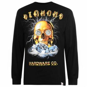 Diamond Supply Co. Gold Skull Long Sleeve T-Shirt - Black