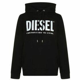 Diesel Text Logo OTH Hoodie - Black 900