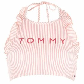 Tommy Bodywear Crop Halter Top - 621 SEERSCKR
