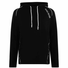 BOSS BODYWEAR Tencel Over The Head Hoodie - Black SMU
