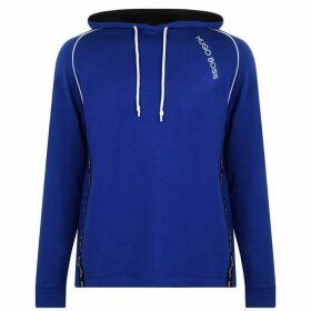 BOSS BODYWEAR Tencel Over The Head Hoodie - Blue 465