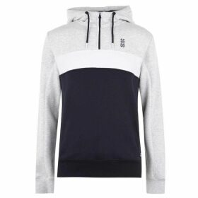 SoulCal Cut and Sew OTH Hoodie Mens - Grey M/Navy