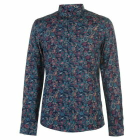 Soviet XL Long Sleeve Pattern Shirt Mens - Multi