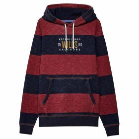 Jack Wills Wrightworth Stripe Hoodie - Red
