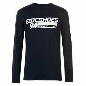DC Motors Long Sleeve T Shirt Mens - Dark Indigo