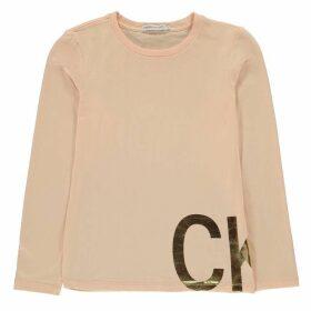 Calvin Klein Jeans Long Sleeve T Shirt - Pearl