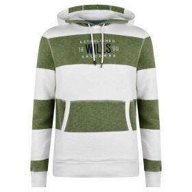 Jack Wills Wrightworth Stripe Hoodie - Moss