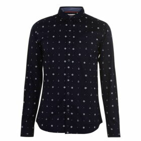 SoulCal AOP Long Sleeve Shirt Mens - Navy AOP