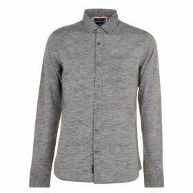 SoulCal Marl Long Sleeve Shirt Mens - Grey