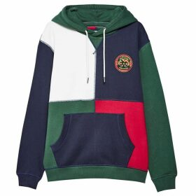 Jack Wills Huntstaw Cube Hoodie - Dark Green