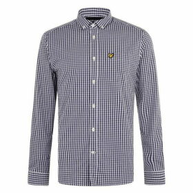 Lyle and Scott Long Sleeve Gingham Shirt - Navy Z650