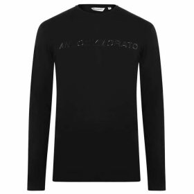 Antony Morato Sport Logo Long Sleeve T Shirt - BLACK 9000