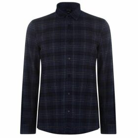 Antony Morato Long Sleeve Checked Shirt - AVIO BLUE 7064