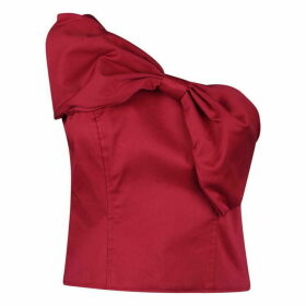 Jack Wills Bevendean Bow Top - Red