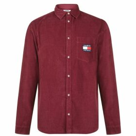 Tommy Jeans Sleeve Corduroy Shirt - Burgundy