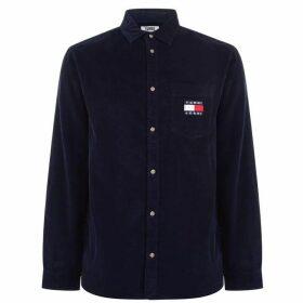 Tommy Jeans Sleeve Corduroy Shirt - Black Iris