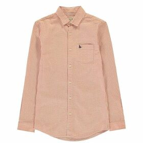 Jack Wills Salcombe Seersucker Shirt - Orange Stripe