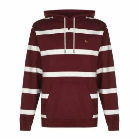 Jack Wills Boynton Stripe Hoodie - Red