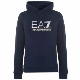 EA7 Visible Logo Over The Head Hoody - Blue