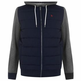 Jack Wills Burston Hybrid Hoodie - Navy/Charcoal